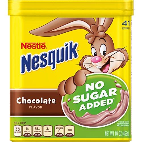 Nesquik Chocolate Powder No Sugar Added, 16