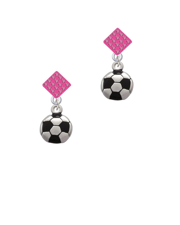 Soccer ball Lulu Diamond-Shaped Earrings