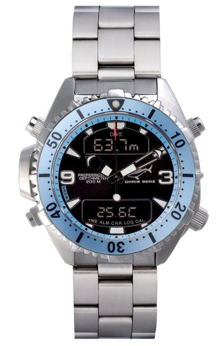 Chris Benz Depthmeter Digital CB-D200-H-MB Mens Chronograph Diving Computer