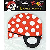 Pirate Party Masks, 8ct