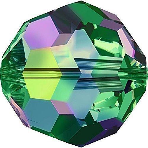 5000 Swarovski Crystal Beads Round Crystal Vitrail Medium   4mm - Pack of 25   Small & Wholesale Packs