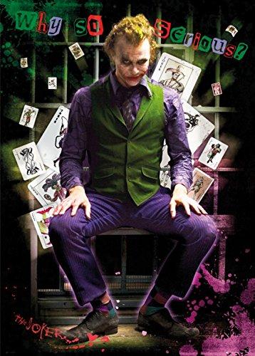 (1art1 Posters: Batman XXL Poster - Joker Jail, Why So Serious? (54 x 38 inches))