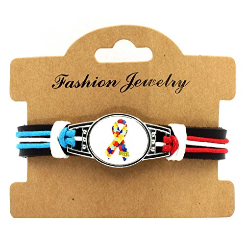 Sykdybz 100% Hand Woven Leather Autistic Bracelet, Four Quarter Wreath Bracelet,Five