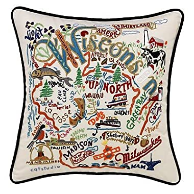 Catstudio Wisconsin Pillow - Geography Collection Home Décor 061(CS)