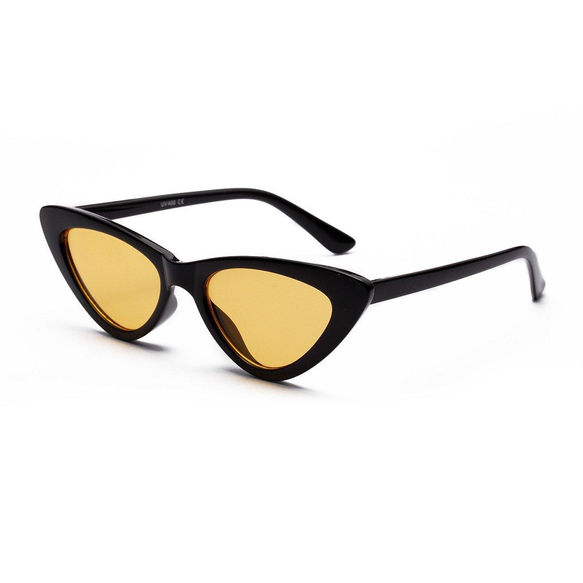ad2c85f3f6fed Retro Narrow Cat Eye Sunglasses Para Mujeres Clout Goggles Plastic Frame  Universal
