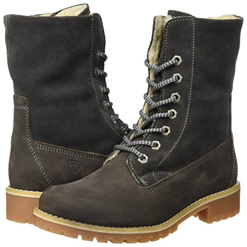 Tamaris Combat Women''s anthracite 26443 Boots Grey wUFwqC6