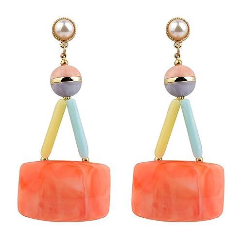 Acrylic Earrings Geometric Earrings Wild Candy Colored Baublebar Earrings