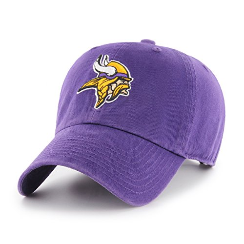 OTS NFL Minnesota Vikings Mens Challenger Adjustable Hat, Alternate Team Color, One Size