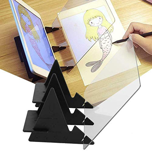 Copy Holder,Portable Optical Drawing Board,Copy Table Projection Sketching Tool,Sketch Drawing Board Mould Toy Gift for Students Adults Artists Beginners