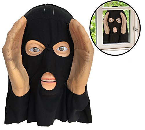 (Scary Peeper - Realistic Animated Eyes Burglar - Window Prop Halloween)