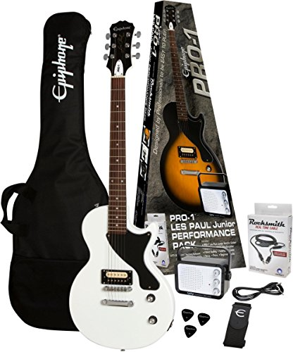 Epiphone PPEG-ENPLAWCH1-15 Electric Guitar Pack, Alpine White