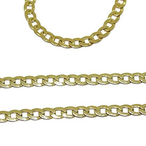 88252fde95a8 Cadena de oro amarillo de 18k para hombre tipo barbada de 60cm de larga y  3mm