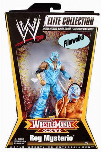 (Mattel WWE Wrestling Exclusive Elite Collection Action Figure Wrestle Mania XXVI Rey Mysterio)