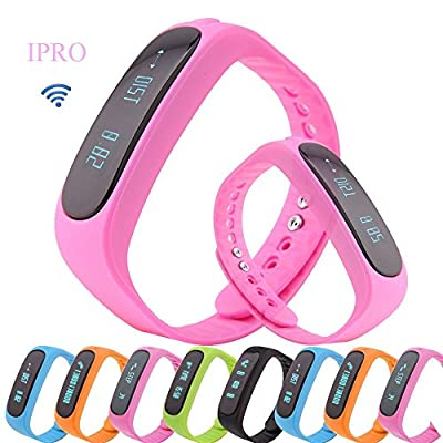 Exercise Monitor Wristband,IPRO E02 Waterproof Garmin Activity Pedometer Anti-lost Smart Bracelet with Self-timer to Track Sleep/Calorie for Android&IOS iphone6/6 Plus/5S