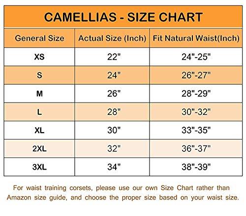 3ce756c01a Camellias Womens Heavy Duty Double Steel Boned Waist Training Long Line  Underbust Corset Wide Hips