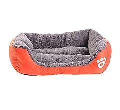 URIJK Camas de perro y cojines caseta mascota nido gato Pad impermeable colorido, Naranja, Large: Amazon.es: Hogar
