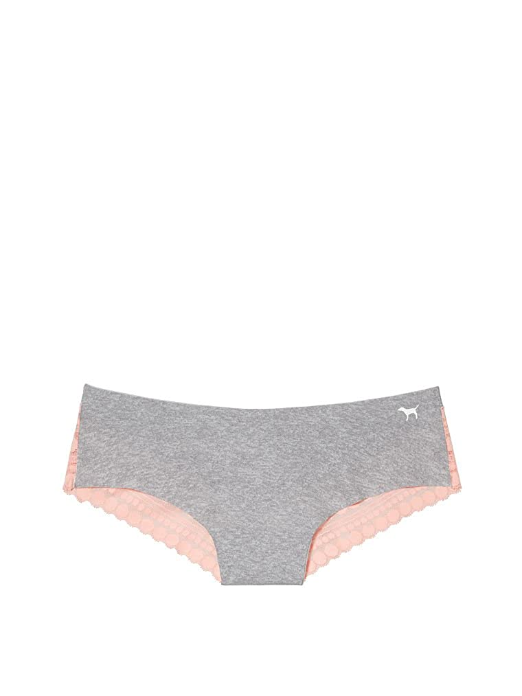 4d1ceda40461 Victoria's Secret Pink Lace Back No-Show Cheekster Panty Grey/Peach  (X-Small) at Amazon Women's Clothing store: