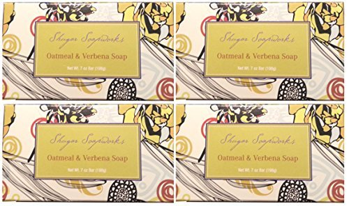 (4 Bar Set Venezia Soapworks Pure Vegetable Soap Oatmeal & Verbena 7. Oz Each Bar)
