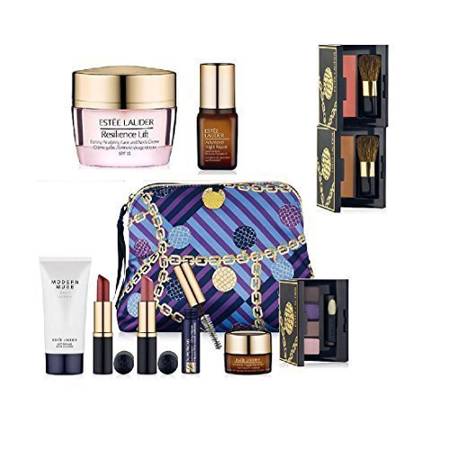 Estee Lauder New Fall 9Pc Skincare Makeup Gift Set $165+ Value With Cosmetic Bag Macy's Exclusive by Estee - Mall Macy's