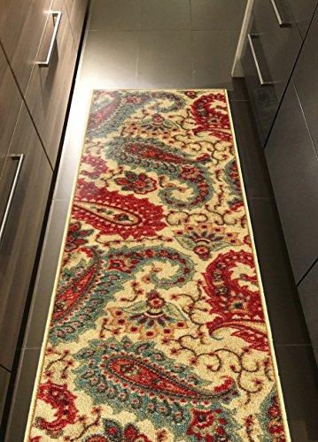 Custom Multicolor Paisley Non Slip Hallway