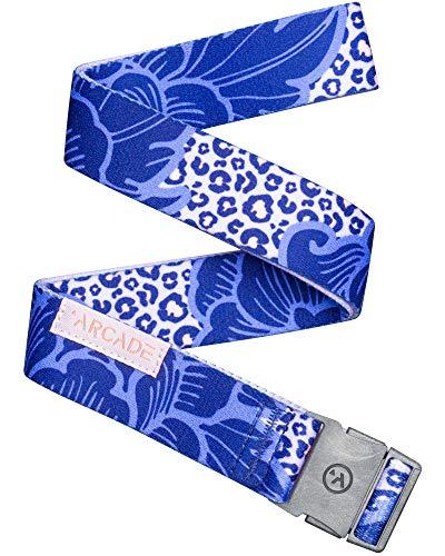 Arcade Belt Mens Adventure Slim Belts: Narrow Width Elastic Stretch Webbing, Micro Adjust Buckle, Ranger Purple Bloom