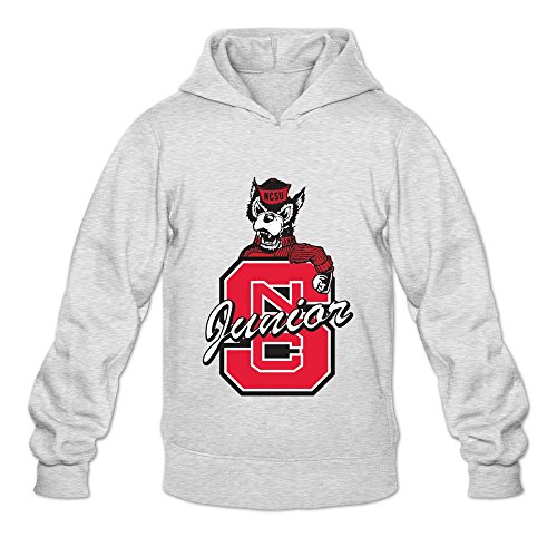 Tavil NC State Wolfpack 100% Cotton Hoodies For Men Ash Size (Yummy Zombie Mask)