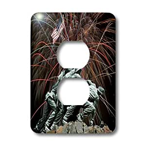 3dRose LLC lsp_14248_6 Marine Corp Memorial with Fireworks, 2 Plug Outlet Cover