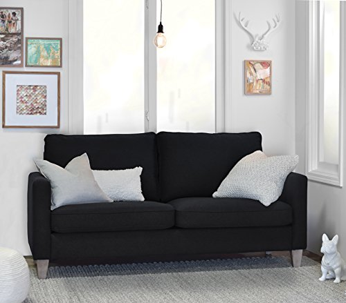 Elle Decor Porter Sofa - Black (Own Your Assemble Couch)