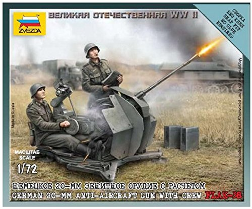 (FLAK-38 German 20-mm anti-aircraft gun with crew 1/72 Zvezda 6117)