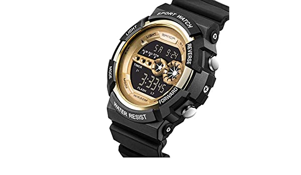 Amazon.com: Men Fashion Round Digital Multi-function Wrist Watch Bracelet Bangle: Clothing