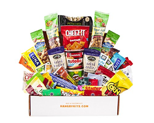 HANGRY KIT - Woman kit - Care Package - Gift Pack - Variety of 42 Bars, Teas, Candies,Cookies and other Snacks Included - 100% Guaranteed by Hangry Kits