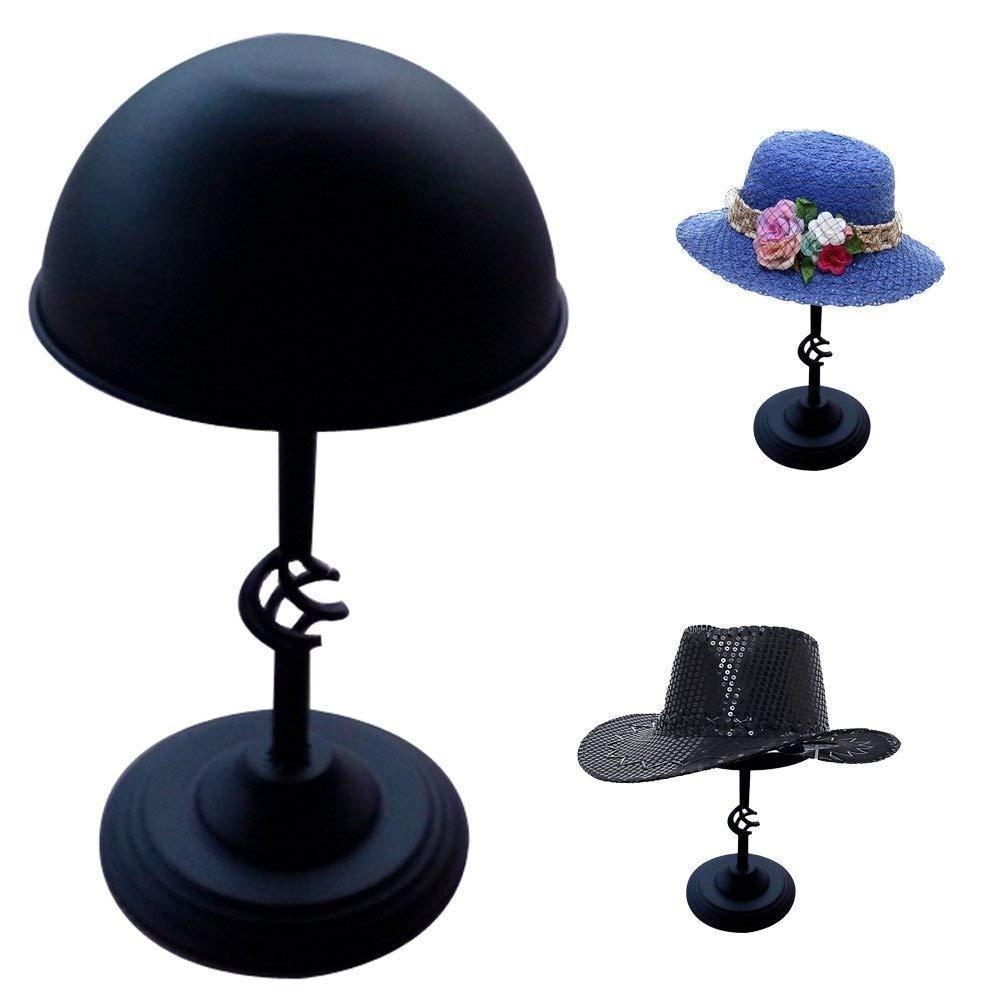 Queens Freestanding Hat Stand/Hat Rack/Wig Holder Storage Display Stand (Black)
