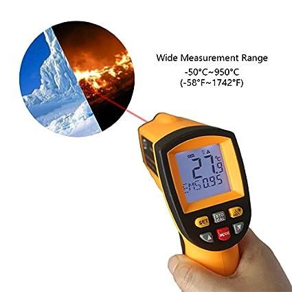 Gm900 Ir Infrared Thermometer Digital Temperature Meter -50~950C -58~1742F Pyrometer