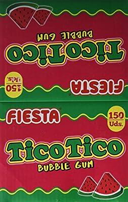 FIESTA Tico Tico Barra de Chicle Sabor Sandía - Caja de 150 ...
