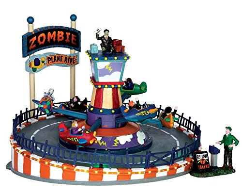 Lemax Halloween Zombie Plane Ride With Sights And Sounds -
