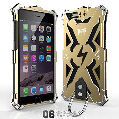 Aluminum Transformer - Iphone 6 6s Case, Lwang® Aviation Aluminum Anti-scratch Strong Protection Metal Case for Iphone 6 6s , Hollow Design Full Signal Iphone 6 6s Thor Case (gold/black)