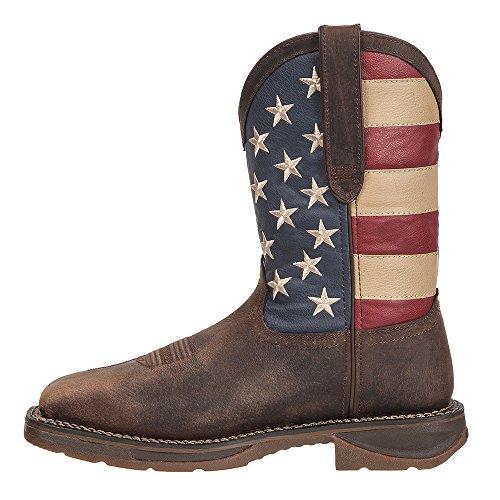 Men's Union Dark Boot Western DB020 Brown Durango Flag wqpFOdw