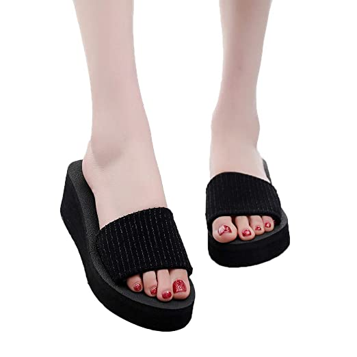 e3be68a9ca62e Amazon.com: Fainosmny Womens Shoes Platform Slippers Summer Open Toe ...