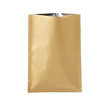 precio/100 piezas) Kraft papel de aluminio con forro bolsa ...