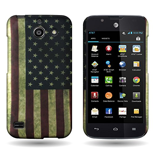 Huawei Tribute/Fusion 3 Case, CoverON Hard (American Flag) Design, [Slim 1pc Polycarbonate] [Protective Shell] [Enhanced Grip] Slender Fit Series Phone Cover for Huawei Tribute/Fusion 3 / Y536A1 (Y536a1 Phone For Covers Huawei)