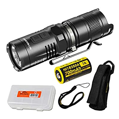 Nitecore MT10C 920 Lumen Multitask Tactical Flashlight Red Light, Rechargeable Battery LumenTac Battery Organizer