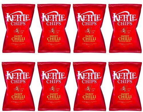Kettle Chips Patatas Fritas con Picante Dulce y Crema Agria - Paquete de 8 x 150 gr - Total: 1200 gr: Amazon.es: Alimentación y bebidas