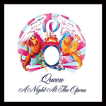 queen a night at the opera 12 album cover framed print mdf multi