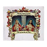 CafePress - Sacred And Immaculate Hearts - Soft Fleece Throw Blanket, 50''x60'' Stadium Blanket