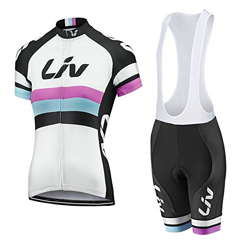 (Women's Cycling Jersey Set Bike Jersey Bicycle Summer Breathability Short Sleeve Suit C49 (X, S))