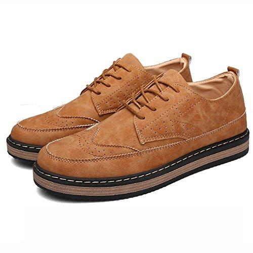 CN43 Nero LVZAIXI UK8 Scarpe Scarpe EU42 Giallo Piatte dimensioni Scarpe Mantieni accogliente scarpe Addensare 5 Casual Inghilterra Caldo Colore w7FCxTqw