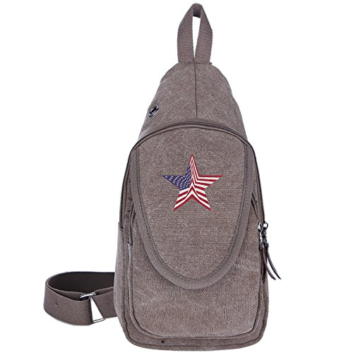 Carylon Eagle USA Flag Unisex Customized Chest Pack Backpack Sport Sling Hiking Shoulder Crossbody Backpack Rucksack - Foothills The Mall