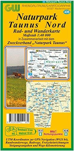 406 Naturpark Taunus Nord: Rad- und Wanderkarte