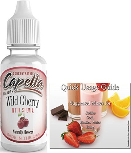 (Capella Flavor Drops Concentrated & Quick Start Guide Bundle (Wild Cherry with Stevia, 13ml))
