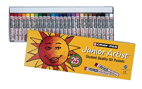 Sakura XEP25 25-Piece Cray-Pas Junior Artist Assorted Color Oil Pastel Set (Oil Reading Painting)